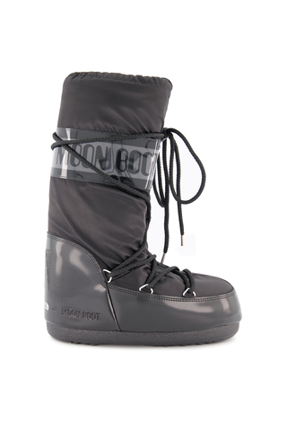 Side view image of Moon Boots Classic Fashion Moon Boot Glance Black