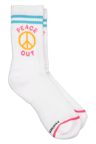 Front view image of Mother Denim Baby Steps Socks Blue Pink Orange