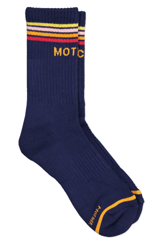Front view image of Mother Denim Baby Steps Socks Navy Horizon