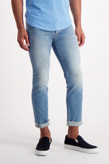 Front Crop Image Of Model Wearing Mother Denim The Neat Cuff Ankle Fray