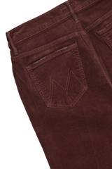 Back pocket detail image of Women's Mother Denim The Weekender Fray