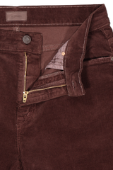 Front button closure detail image of Women's Mother Denim The Weekender Fray