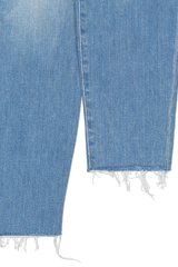 Distressed hem detail image of Mother Denim Women's The Fly Cut Stunner