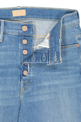 Button fly detail image of Mother Denim Women's The Fly Cut Stunner