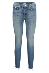 Front view image of Mother Denim Women's The Looker Ankle Fray Gutterpunk