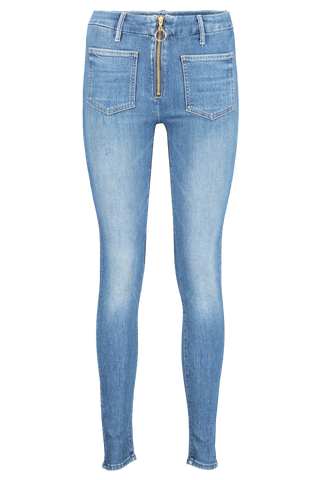 Front view image of Mother Denim Women's The Patch XYZ Looker