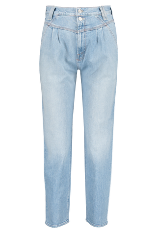 Front view image of Mother Denim Women's The Pleated Popular Peg