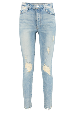 Front view image of Mother Denim Women's The Stunner Ankle Jeans