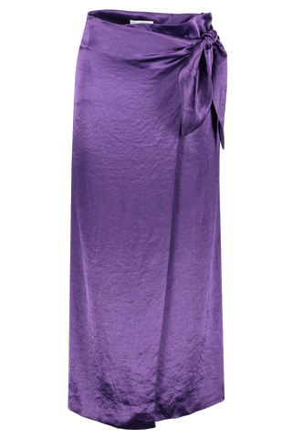 Front view image of Nanushka Amas Washed Satin Skirt