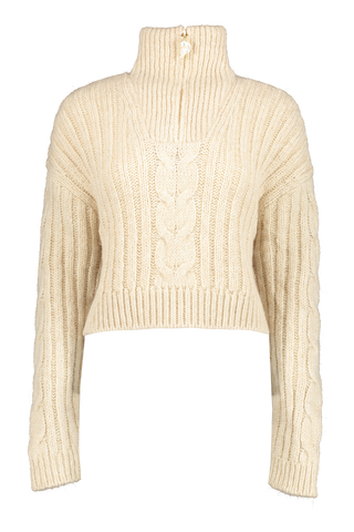 Front view image of Nanushka Eria Quarter Zip Sweater