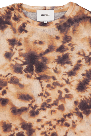 Collar Detail Image of Nanushka Guy T-Shirt Tie Dye