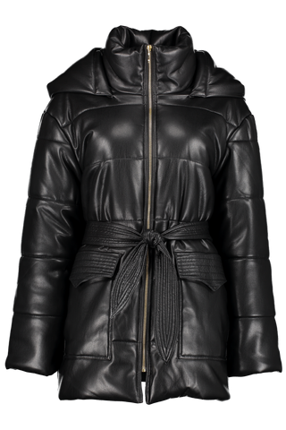 Front view image of Nanushka Lenox Vegan Leather Coat