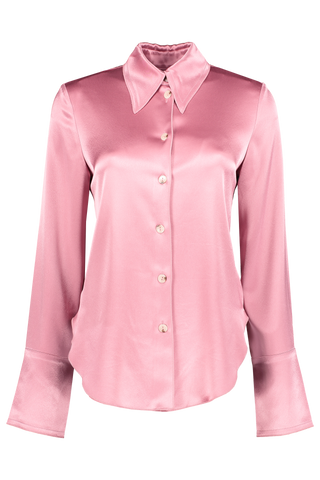 Front image of Nanushka Long Sleeve Mandine Blouse