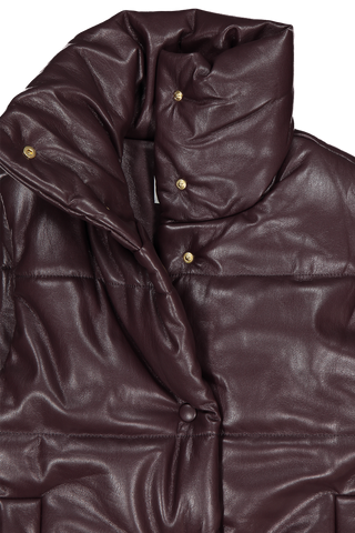 Front collar detail image of Nanushka Morillo Vegan Leather Vest