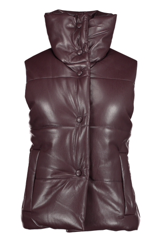 Front view image of Nanushka Morillo Vegan Leather Vest