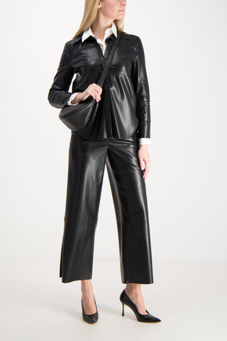 Naum Vegan Leather Blouse