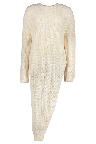 Rodi Asymmetric Knit Dress White
