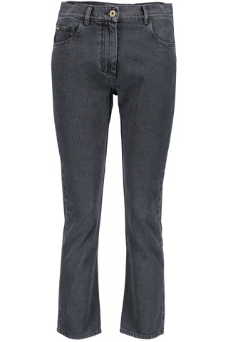 SACHI DENIM PANT WASHED BLACK