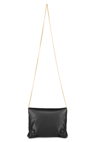 Front view with chain image of Nanushka Tao Chain Bag Black