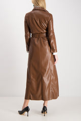 Taurus Vegan Leather Coat