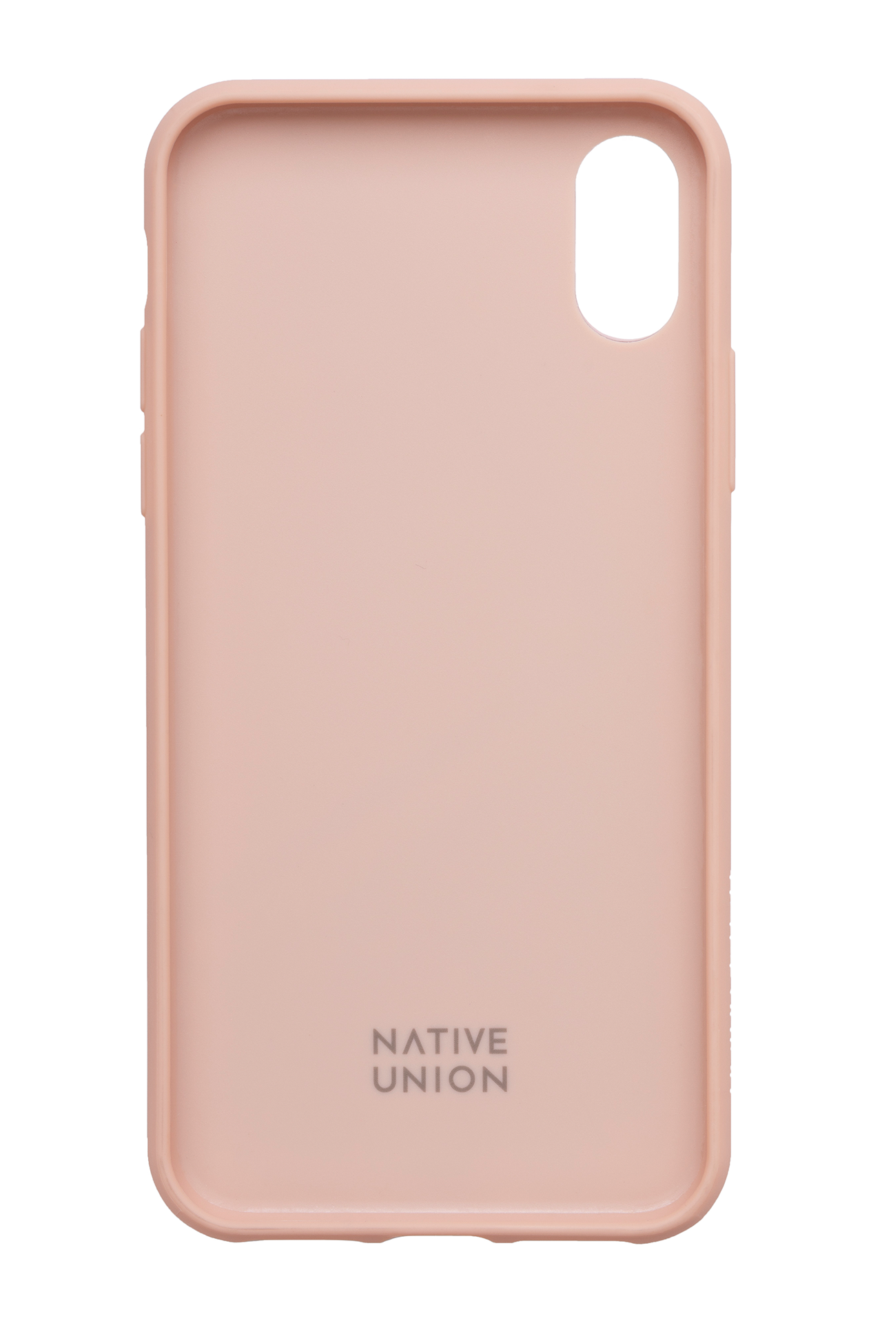 Front image of Native Union Clic Card XS Iphone Case Rose iPhone removed