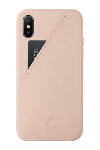 Back image of Native Union Clic Card XS Iphone Case Rose