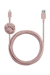 Front image of Native Union Night Cable kv Lightning Rose coiled