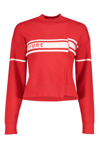 Nervure Sweater In Rosso Panna