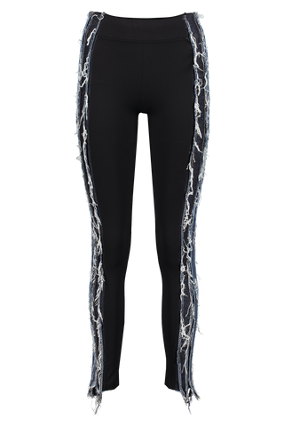Front image of NO KA'OI Patchwork Striped Legging