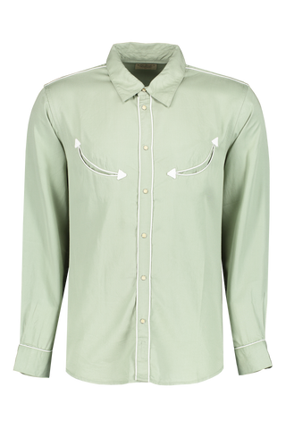 Stellan Western Shirt Pale Green