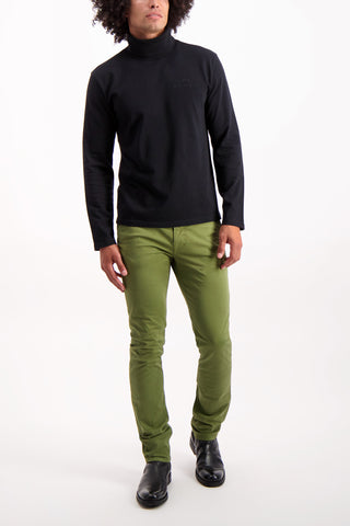 Full Body Image Of Model Wearing Nudie Jeans Slim Adam Green