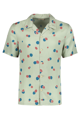 Arvid Random Dots Shirt Pale Green