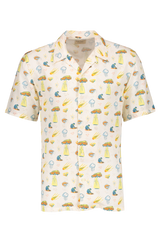 Front Image Of Nudie Arvid West Coast Remix Short Sleeve Woven