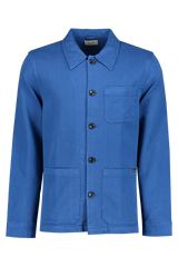 Front Image Of Nudie Jeans Barney Worker Jacket Blue