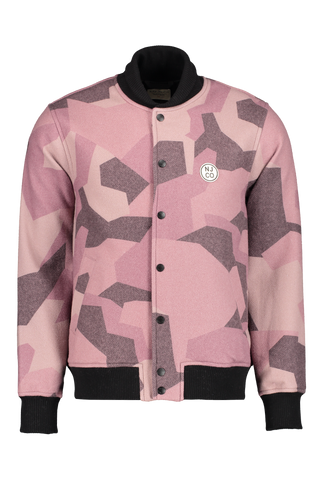Front view image of Nudie Jeans Bengan Wool Fleece Camo Jacket
