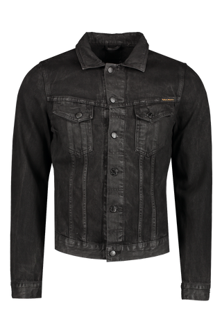 Front Image of Nudie Jeans Billy Dark Onyx Denim Jacket