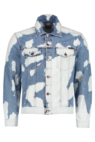 Front Image Of Nudie Jeans Jerry Tie Dye Jacket Denim
