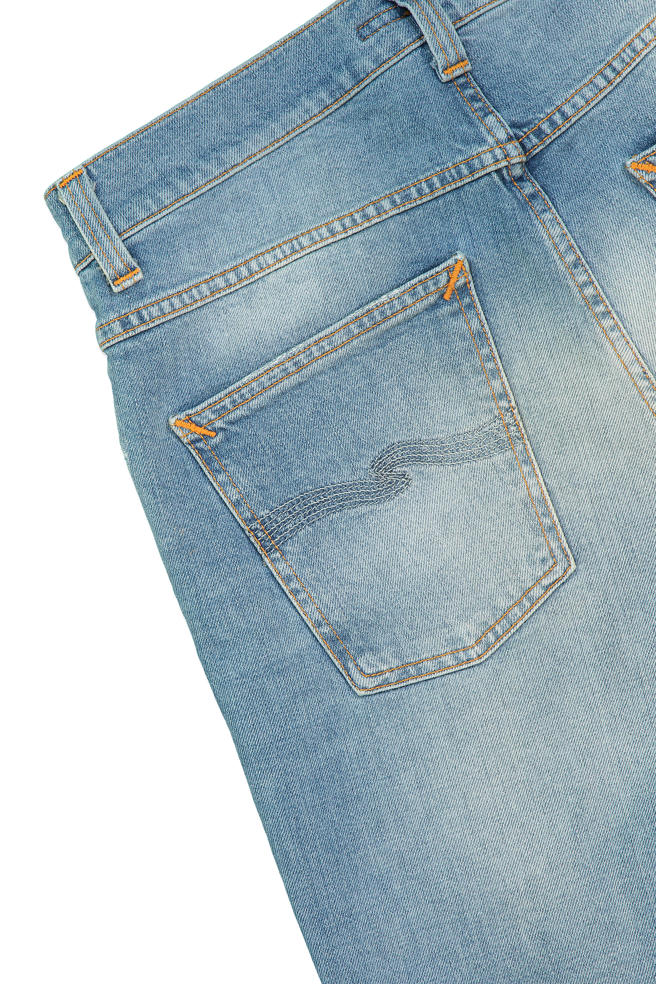 Back pocket detail image of Nudie Jeans Lean Dean Broken Summer