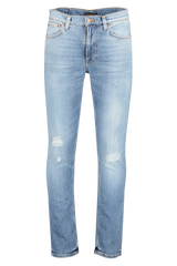Front view image of Nudie Jeans Lean Dean Indigo Mountain