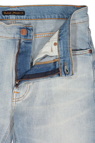 Zipper Detail Image Of Nudie Jeans Lean Dean Wolfie Replica