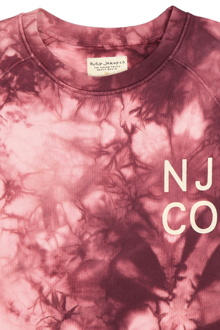 Front collar detail image of Nudie Jeans Melvin Tie Dye Long Sleeve