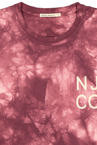 Front collar detail image of Nudie Jeans Roy Tie Dye T-Shirt