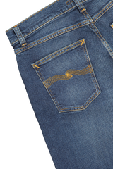 Back pocket detail image of Nudie Jeans Stead Eddie II Dark Classic