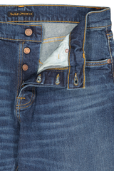 Button fly detail image of Nudie Jeans Stead Eddie II Dark Classic