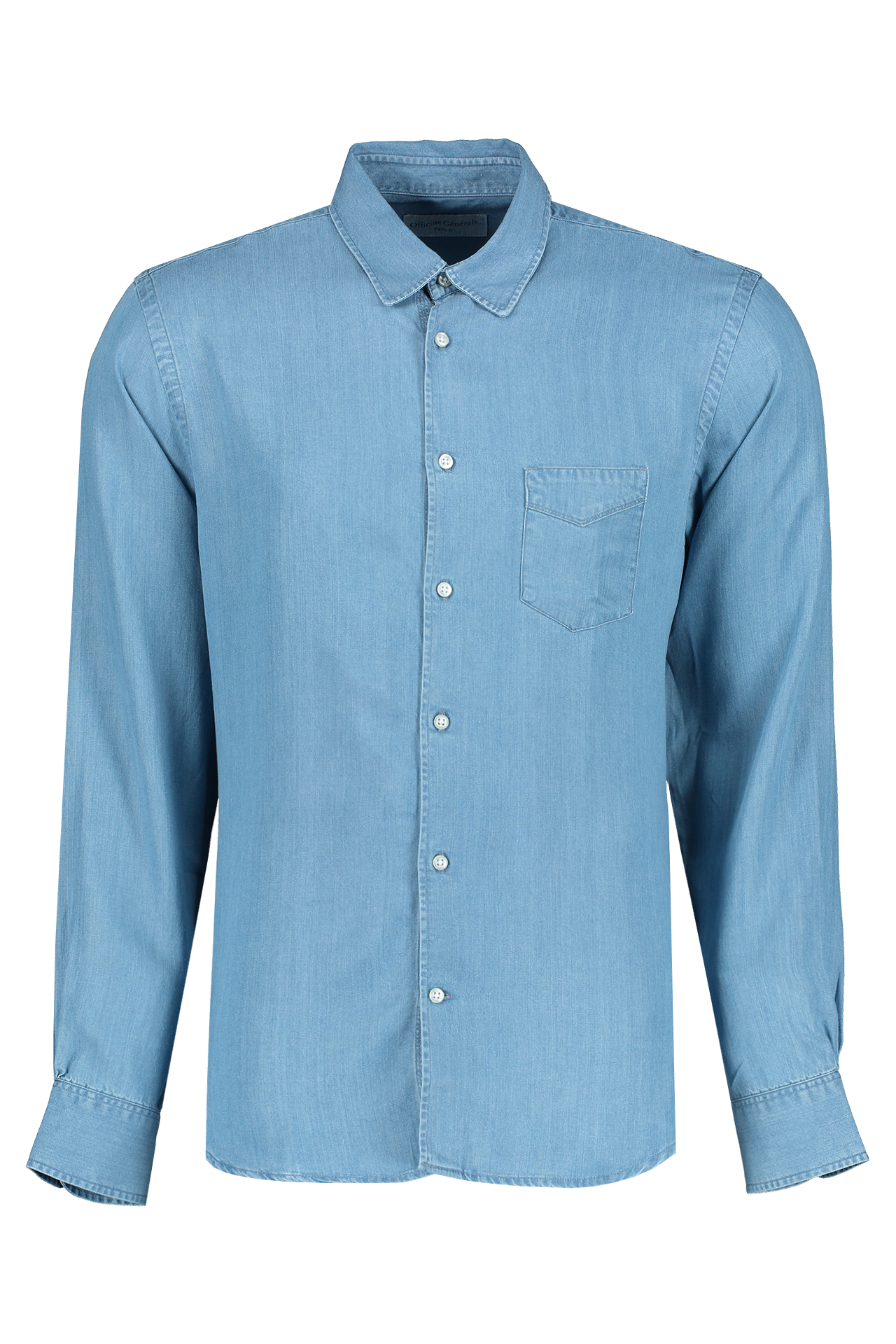 Front Image Of Benoit Tencel Shirt Bleach