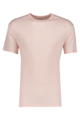 Front Image Of Officine Generale GMT Dyed Linen T Shirt Rosebud