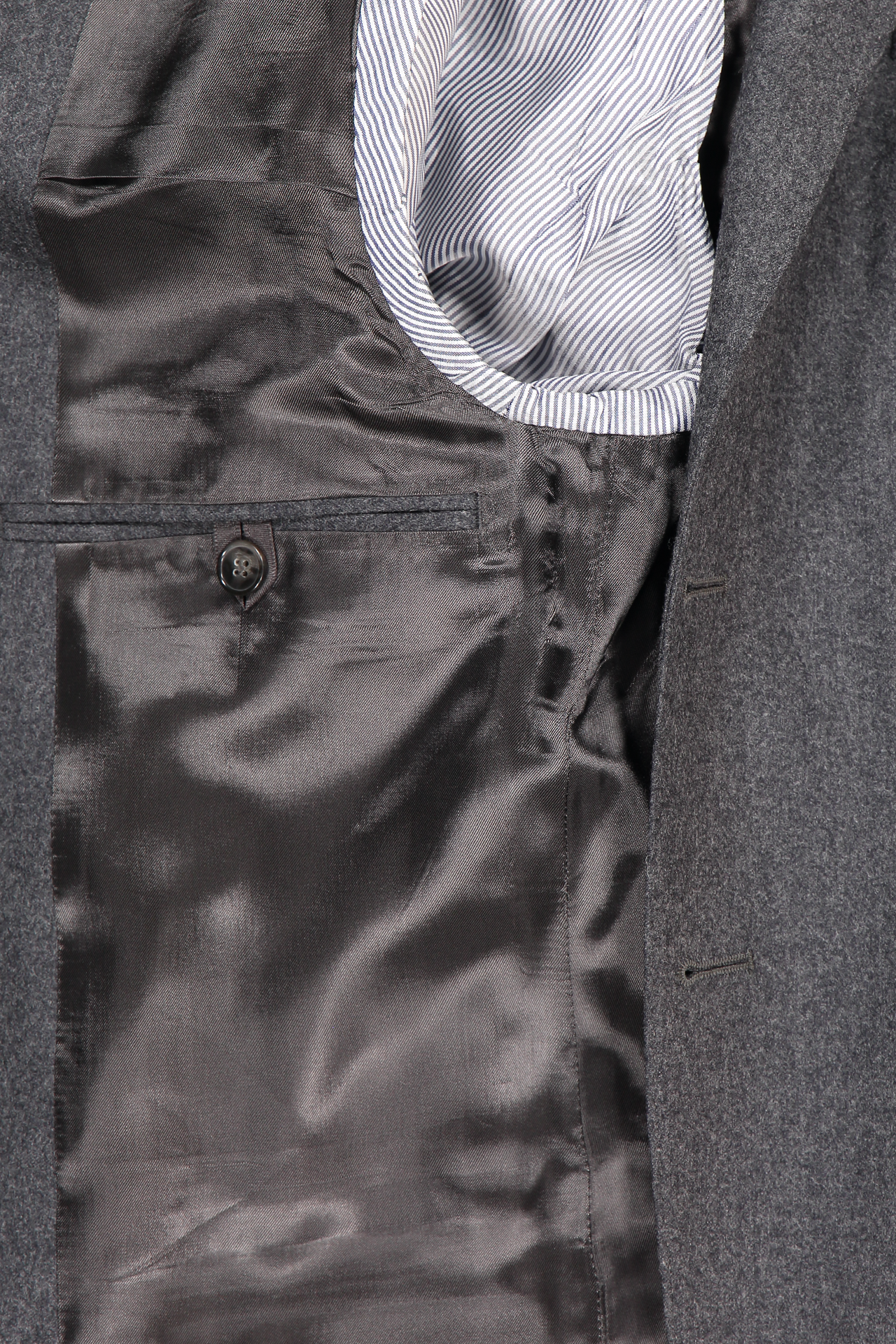 Officine Generale Interior View 375 Flannel Jacket Charcoal