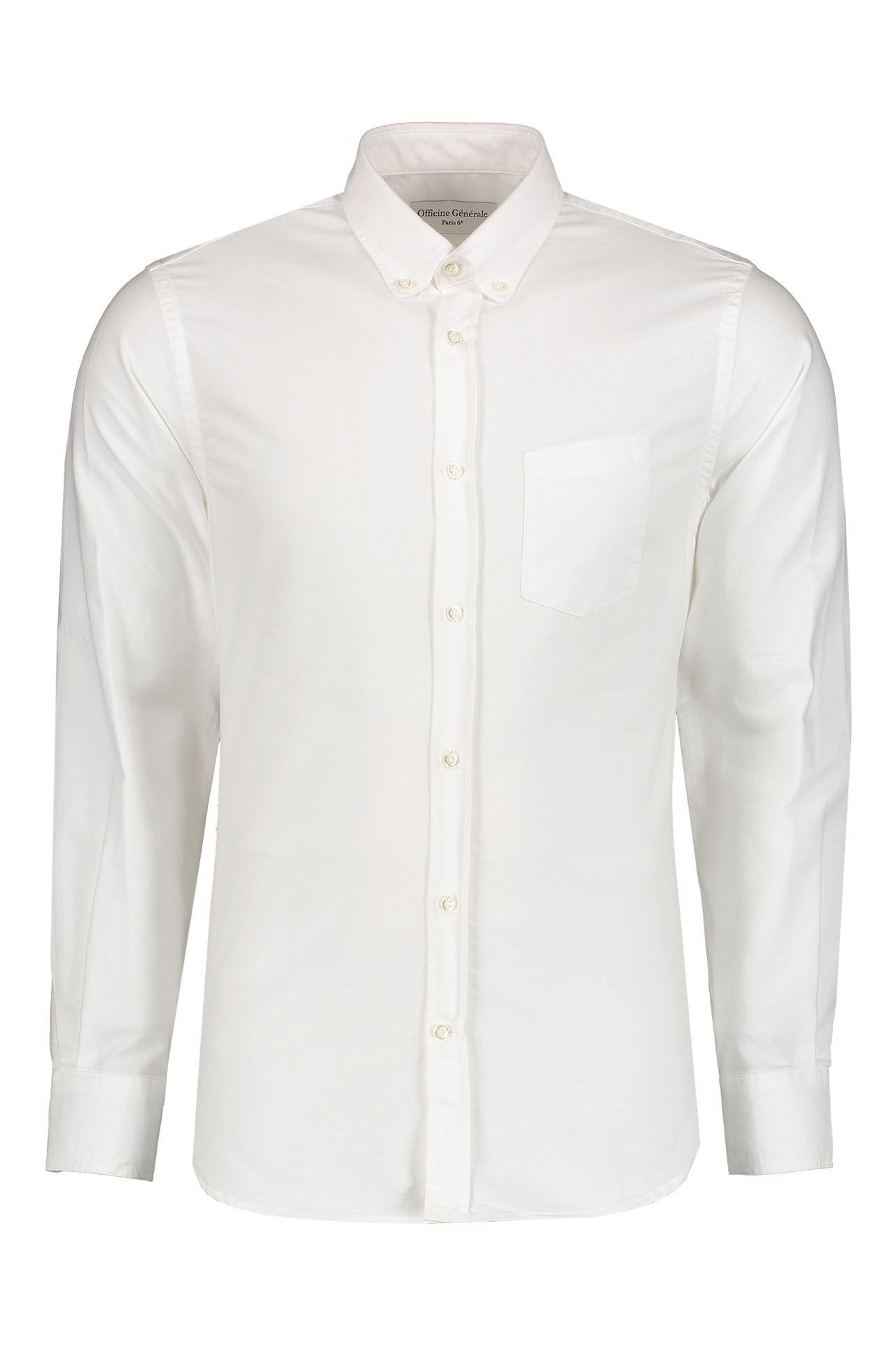 Officine Generale Front Image Antime Button Down Oxford