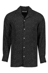 Front Image Dario Long Sleeve Piping Itl Co Ten Dots Black