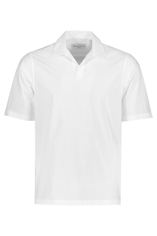 Front view image of Officine Generale Yann Popover Polo White